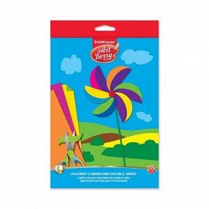 Картон цветной двухсторонний B5, 10 листов, 10 цветов Erich Krause Artberry, мелованный