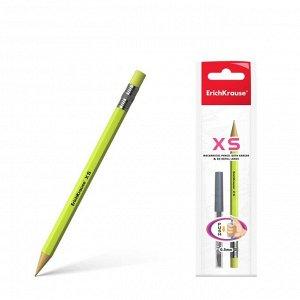 Набор карандаш механический 0.5 мм HB + 20 грифелей Erich Krause XS, блистер, микс