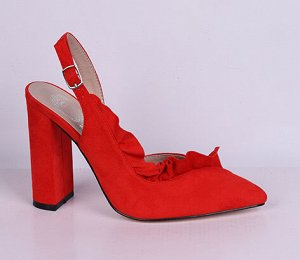 L0022-03-5А красный (Т/Иск.кожа) Туфли летние открытые женские 10п