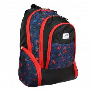 Рюкзак молодёжный, Luris «Флай», 41 х 28 х 20 см, эргономичная спинка, «Геометрия»