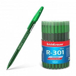 Ручка шариковая Erich Krause R-301 Original Stick узел 0.7мм, чернила зелёные 46775