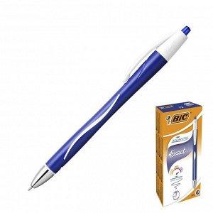 Ручка шариковая, автоматическая, чернила синие, 0.7 мм, тонкое письмо, резиновый упор, BIC Atlantis Exact