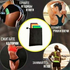 Набор фитнес резинок в сумочке