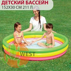 Детский круглый бассейн Bestway 152х30 см, 211 л