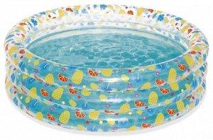 Бассейн надувной «Тропические фрукты», Bestway 150х53 см, 445 л 🌊