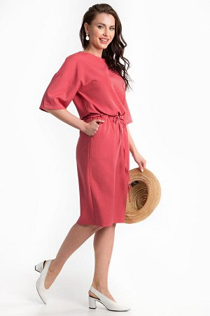 Платье на 56 размер (коралл)