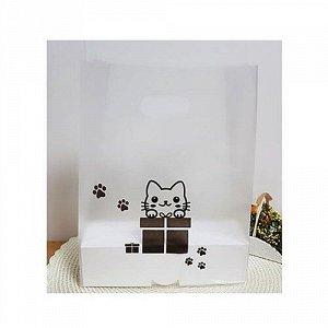 Пластиковые пакеты A_Plastic Bag x 10ea (Cat) Size : 23 x 36 + 8cm