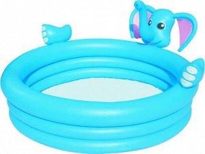 Игровой бассейн Слон Bestway 152х152х74 см, 324 л,с брызгалкой