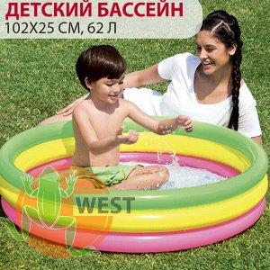 ⛺️Детский круглый бассейн Bestway 102х25 см, 62 л 🌊