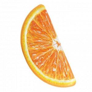 Пляжный надувной матрас Intex Orange Slice Апельсин 178х85 см 🌊