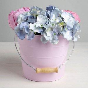 Кашпо подарочное, розовое Love, 15,5 х18 см