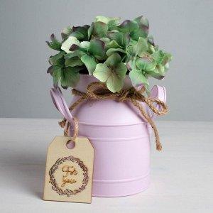 Кувшин. розовый For you. 11.5 х 15 см