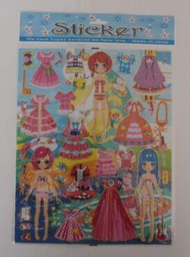 Наклейки Наклейки, для девочек, различные платья, около 5-6 разновидностей наклеек