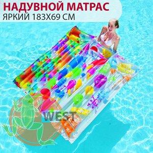 """Надувной матрас для плавания """"Яркий"""" Bestway 183х69 см🌊"""