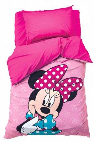 Disney, Детское постельное белье из поплина, 1,5 сп, наволочки 50*70 Disney