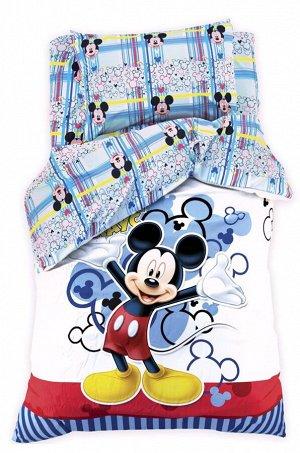 Disney, Детское постельное белье из поплина, 1,5 сп, наволочки 70*70 Disney