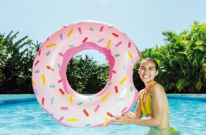 """Надувной круг """"Пончик"""" Intex 107x99 см 🌊"""
