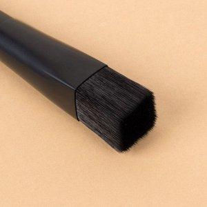 Кисть для макияжа «Premium», 19,4 см, цвет чёрный