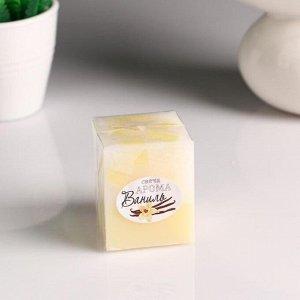 """Свеча- куб с мозаикой """"Ваниль"""" ароматическая, 5?6 см"""