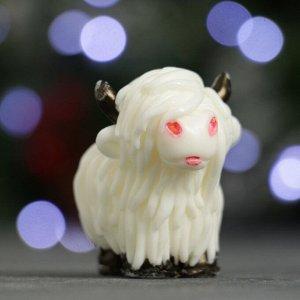 """Мыло фигурное """"Символ года: Коровка шотландская"""" белая 50гр."""