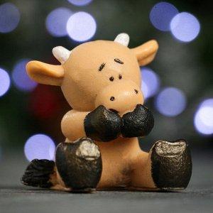 """Мыло фигурное """"Символ года: Коровка"""" коричневая 50гр."""
