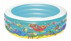 """Детский круглый бассейн """"Подводный мир"""", Bestway 196х53 см, 700 л 🌊"""