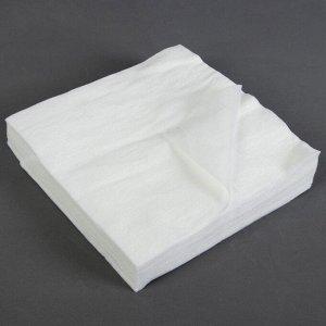 Салфетки косметические, плотность 40г/м2, 20 ? 20 см, 100 шт