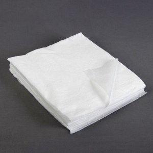 Салфетки косметические, плотность 40г/м2, 25 ? 25 см, 100 шт