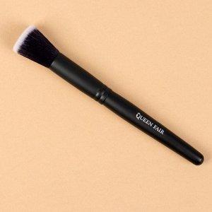 Кисть для макияжа «Premium», в чехле, 16 см, цвет чёрный