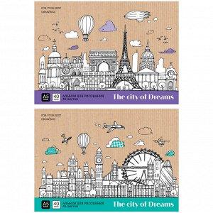 """Альбом для рисования 40л., А5, на склейке ArtSpace """"Путешествия. City of dreams"""""""