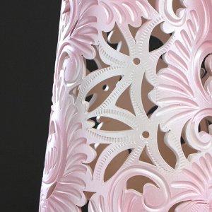 """Ваза напольная """"Глория"""", розовый цвет, резная, 68 см, микс"""
