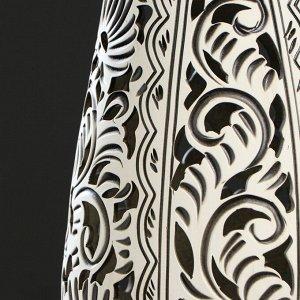 """Ваза напольная """"Лора"""". бежевый цвет. резная. 69 см. микс. керамика"""