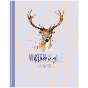 """Дневник 1-11 кл. 40л. ЛАЙТ """"Watercolor drawing"""", глянцевая ламинация"""