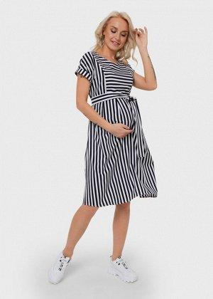 """Платье """"Валерия"""" для беременных и кормящих синее"""