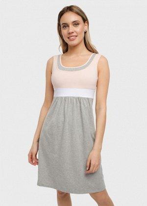 """Платье """"Делмар"""" для беременных и кормящих пудровое"""