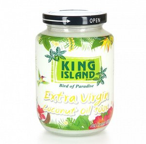 Кокосовое масло 100% натуральное KING ISLAND 450 мл