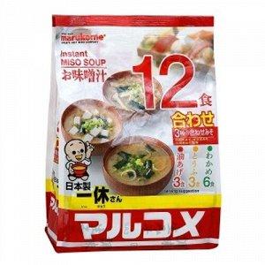 Мисо-суп быстрого приготовления Ассорти Красное, 12 пакетиков, 222 гр