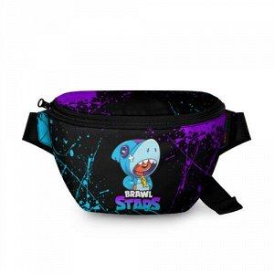 Поясная сумка 3D «BRAWL STARS LEON SHARK»