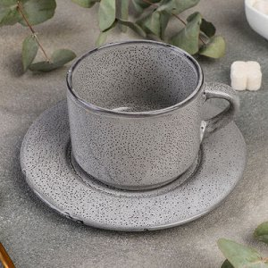 "Чайная пара Nebbia: чашка 200 мл, блюдце 15,5 см, h 6,5 см ""Nebbia"""