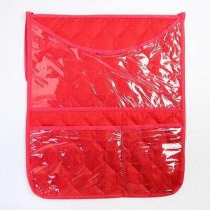 Органайзер на кроватку,размер 47*55,оксфорд,чтежка,цв.красный