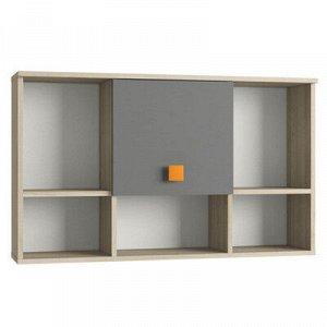 Шкаф навесной Доминика 455, 1026х234х612, Бук песочный/Серый шифер