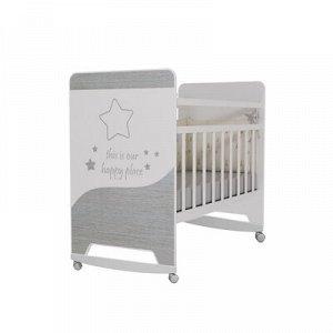 Кровать детская Cosmic колесо-качалка (белый) (1200x600)