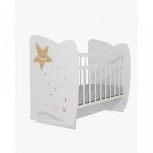 Кровать детская Estella колесо-качалка с маятником (белый) (1200x600)
