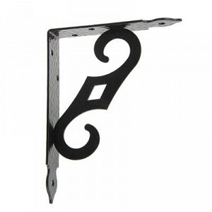 Кронштейн декоративный КД-150-120, цвет черный матовый