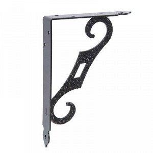 Кронштейн декоративный КД-200-145-S , цвет черный матовый