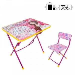 Набор детской мебели «Никки. Маленькая принцесса» складной, цвет розовый
