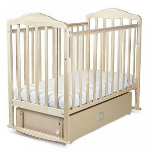 Кровать детская Берёзка с маятником и ящиком (автостенка,качалка, закр.ящик,попер.маятник,накладка П