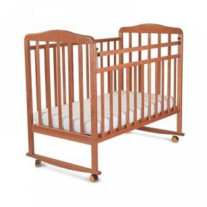 Кровать детская Митенька (опуск.планка ,колеса, качалка, ореx)