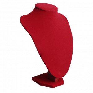 Бюст для украшений, 17,5*13*25 см, h=25 см, цвет красный