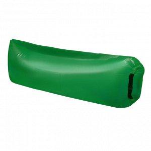 Шезлонг самонадувающийся, цвет зелёный